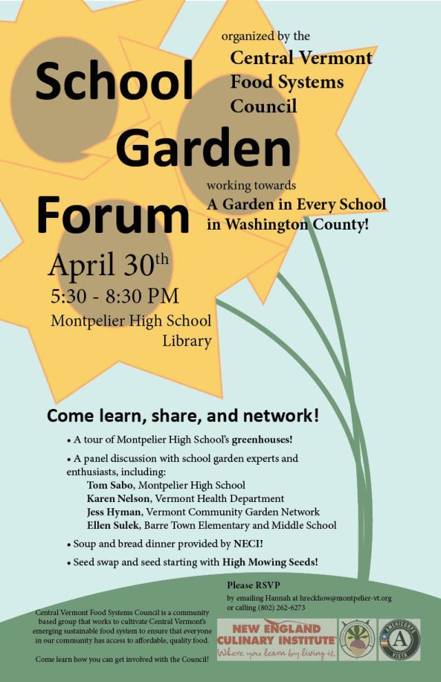 CVFSC School Garden Forum